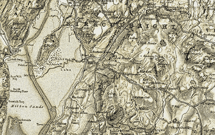 Old map of Banks in 1905