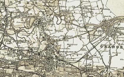 Old map of Bankside in 1904-1906