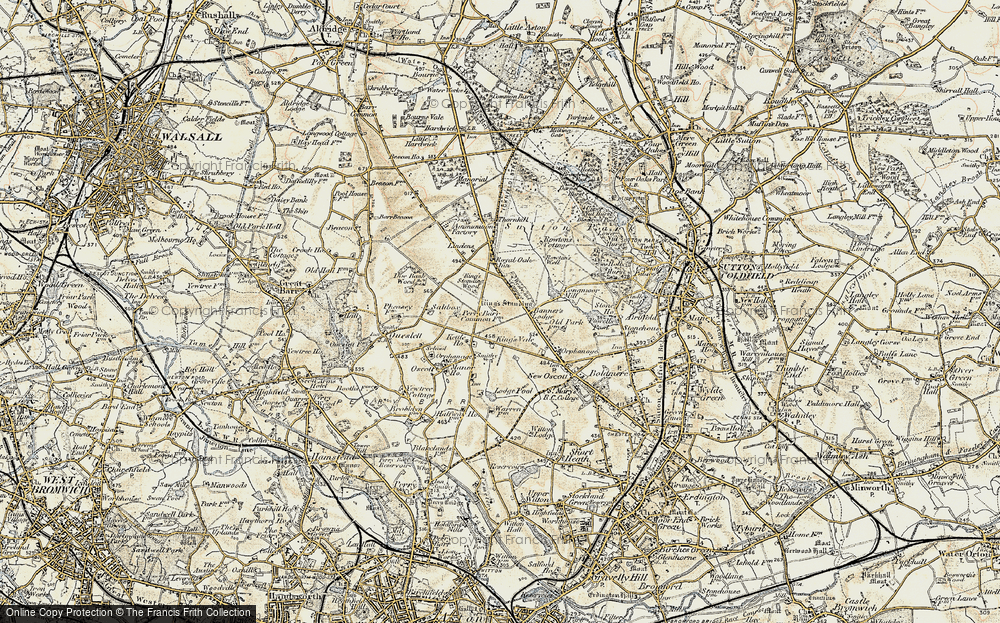 Old Map of Banners Gate, 1902 in 1902