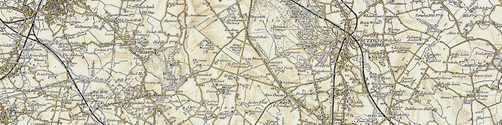 Old map of Westwood Coppice in 1902