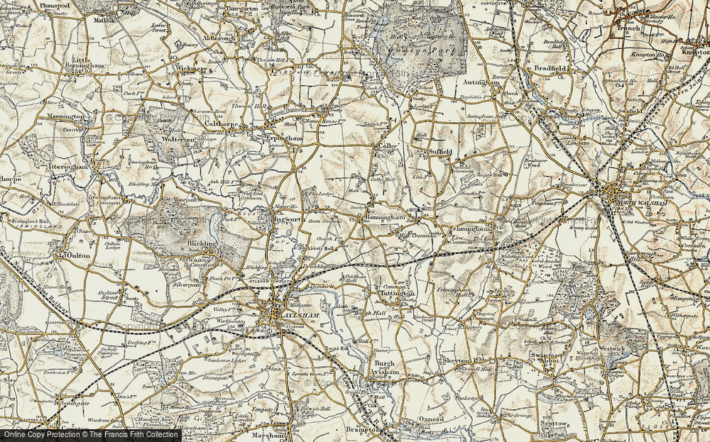 Old Map of Banningham, 1901-1902 in 1901-1902