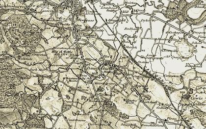 Old map of Bannockburn Ho in 1904-1907