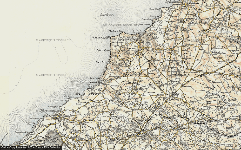 Old Map of Banns, 1900 in 1900