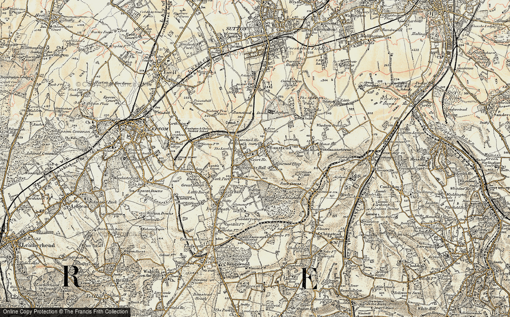 Old Map of Banstead, 1897-1909 in 1897-1909