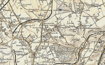 Old map of Banstead in 1897-1909