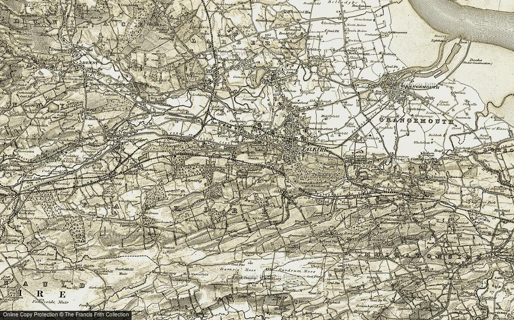Old Map of Bantaskin, 1904-1907 in 1904-1907
