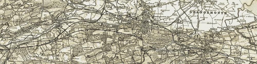 Old map of Bantaskin in 1904-1907