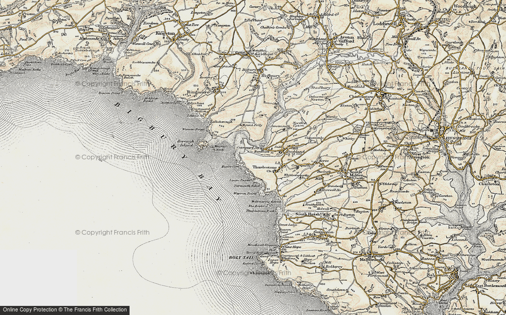 Old Map of Bantham, 1899-1900 in 1899-1900