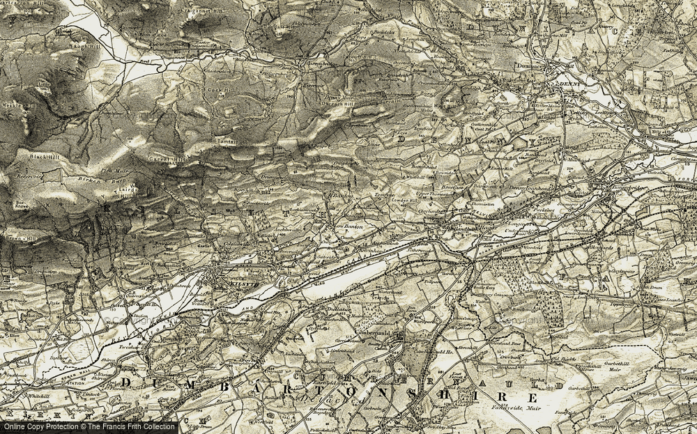 Old Map of Historic Map covering Auchinrivoch in 1904-1907