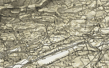 Old map of Banton in 1904-1907