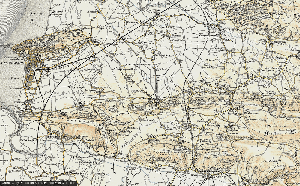 Old Map of Banwell, 1899-1900 in 1899-1900