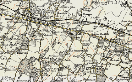 Old map of Bapchild in 1897-1898