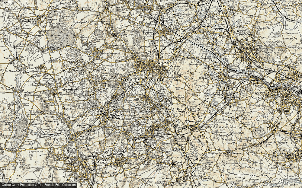 Old Map of Baptist End, 1902 in 1902