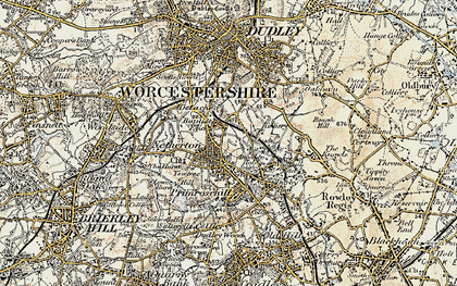 Old map of Baptist End in 1902