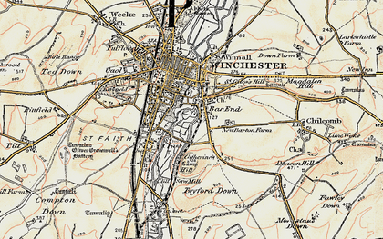 Old map of Bar End in 1897-1900