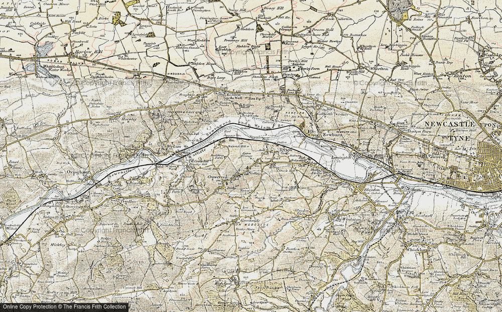 Old Map of Bar Moor, 1901-1904 in 1901-1904