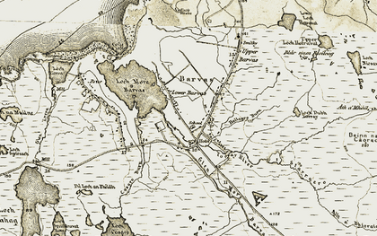 Old map of Barabhas Iarach in 1911