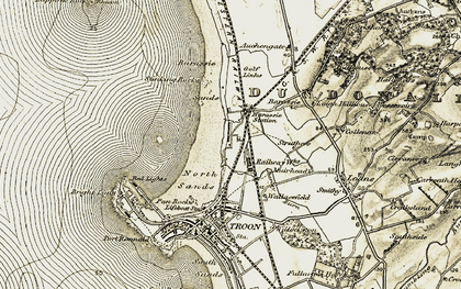 Old map of Lappock Rock in 1905-1906