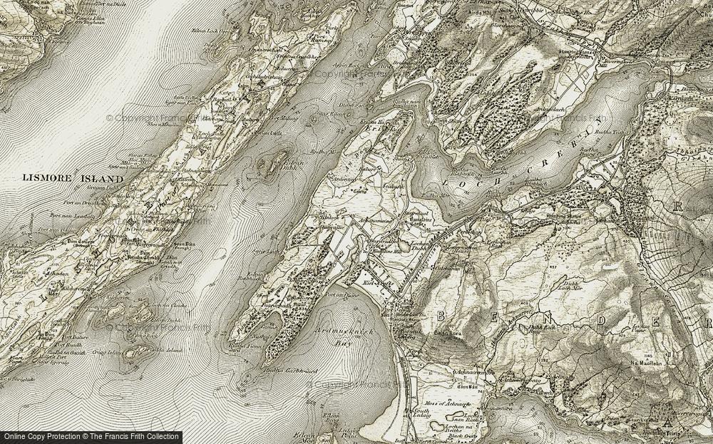 Old Map of Baravullin, 1906-1908 in 1906-1908