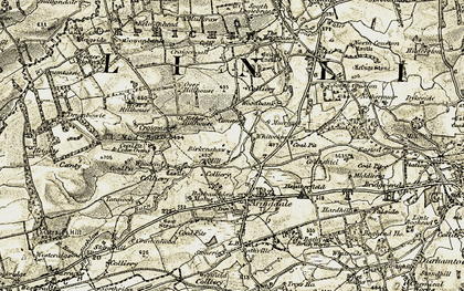 Old map of Barbauchlaw in 1904
