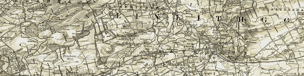 Old map of Woodbank in 1904