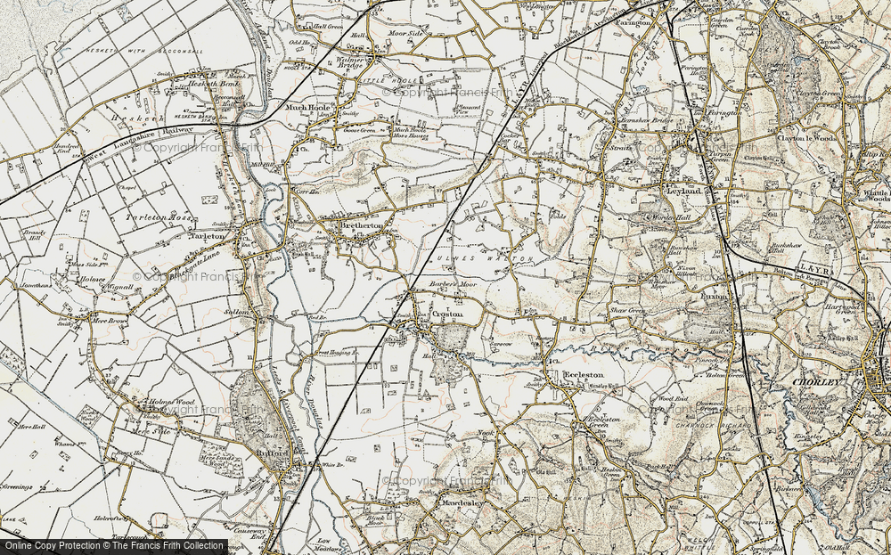 Old Map of Barber's Moor, 1903 in 1903