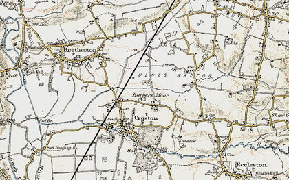 Old map of Barber's Moor in 1903