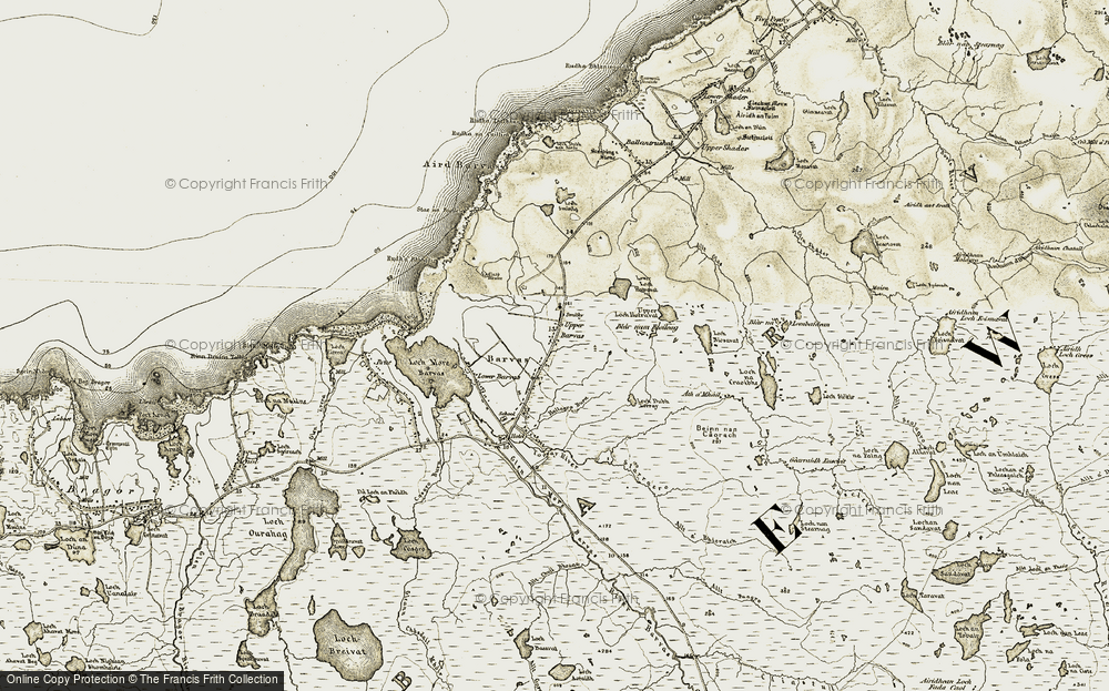 Old Map of Barbhas Uarach, 1911 in 1911