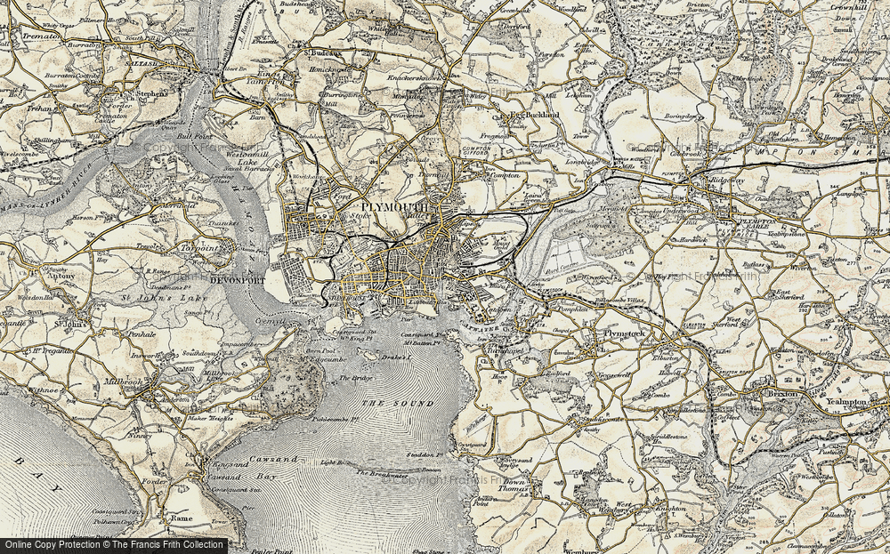 Old Map of Barbican, 1899-1900 in 1899-1900
