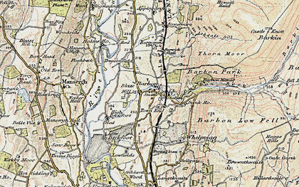 Old map of Barbon Beck in 1903-1904