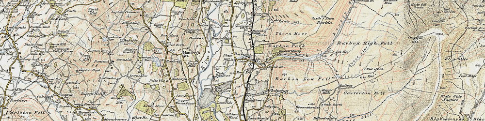 Old map of Barbon in 1903-1904