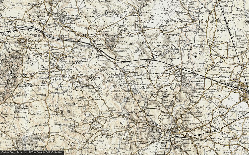 Old Map of Barbridge, 1902-1903 in 1902-1903