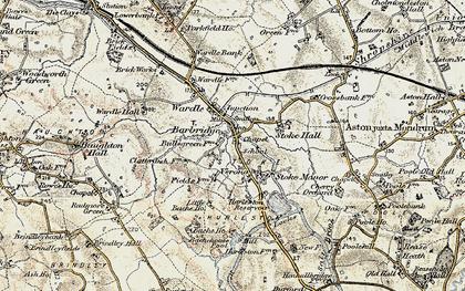 Old map of Barbridge in 1902-1903