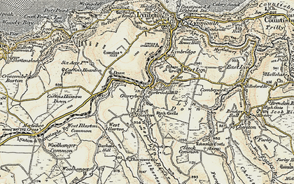 Old map of Barbrook in 1900