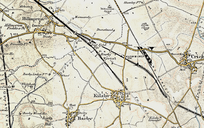 Old map of Barby Nortoft in 1901