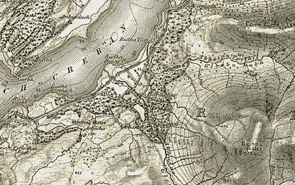 Old map of Achinreir in 1906-1908