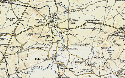 Old map of Barcheston in 1899-1901