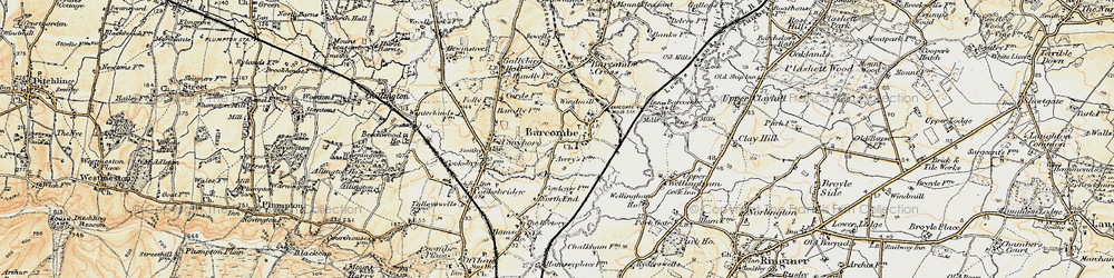 Old map of Barcombe in 1898