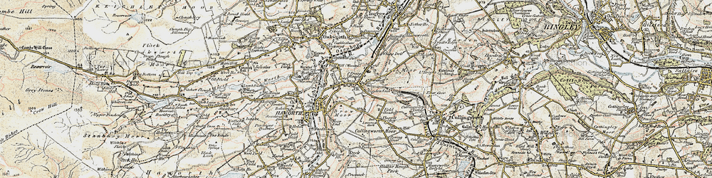 Old map of Worth Way in 1903-1904