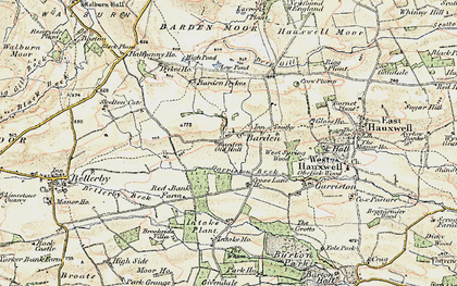 Old map of Barden Old Hall in 1904