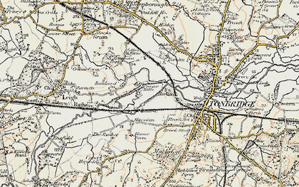 Old map of Barden Park in 1897-1898