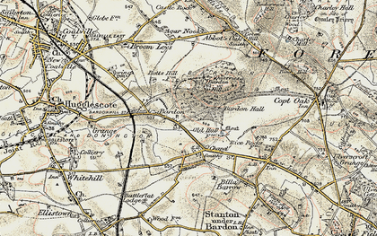 Old map of Bardon in 1902-1903