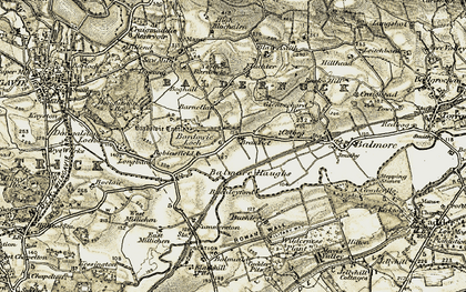 Old map of Bardowie in 1904-1905