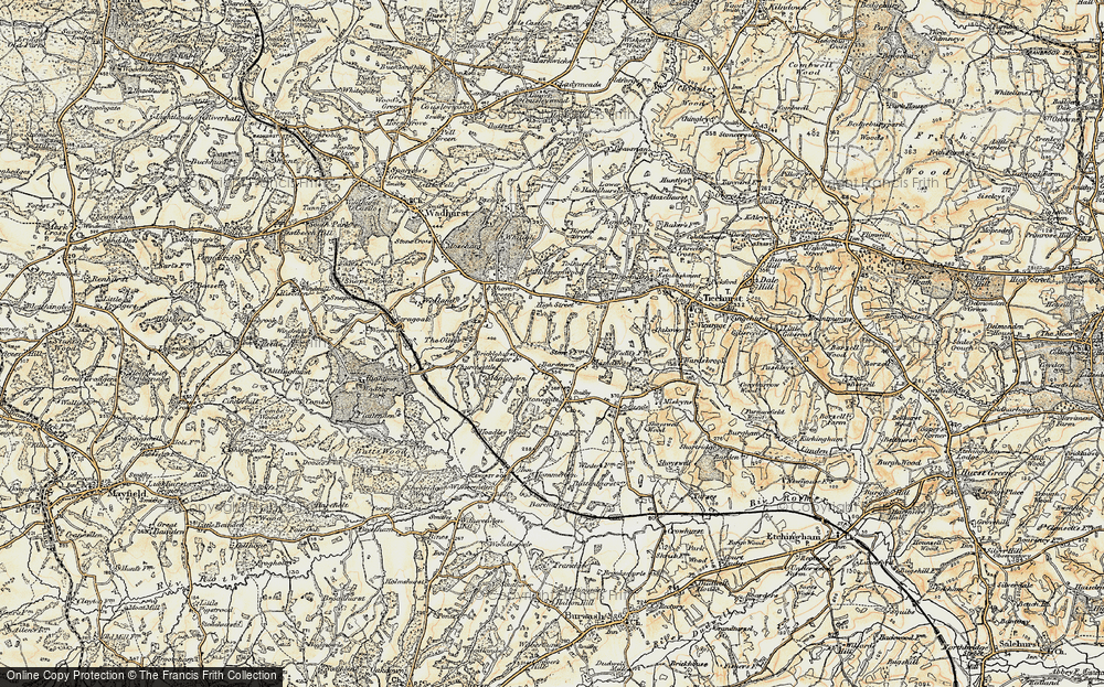 Old Map of Bardown, 1898 in 1898