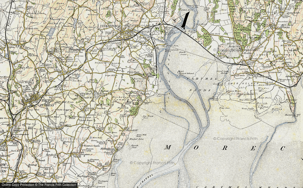 Old Map of Historic Map covering Bardsey Green in 1903-1904
