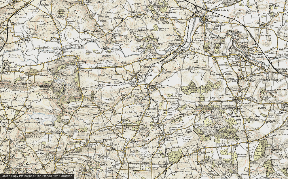 Old Map of Historic Map covering Barker's Plantn in 1903-1904