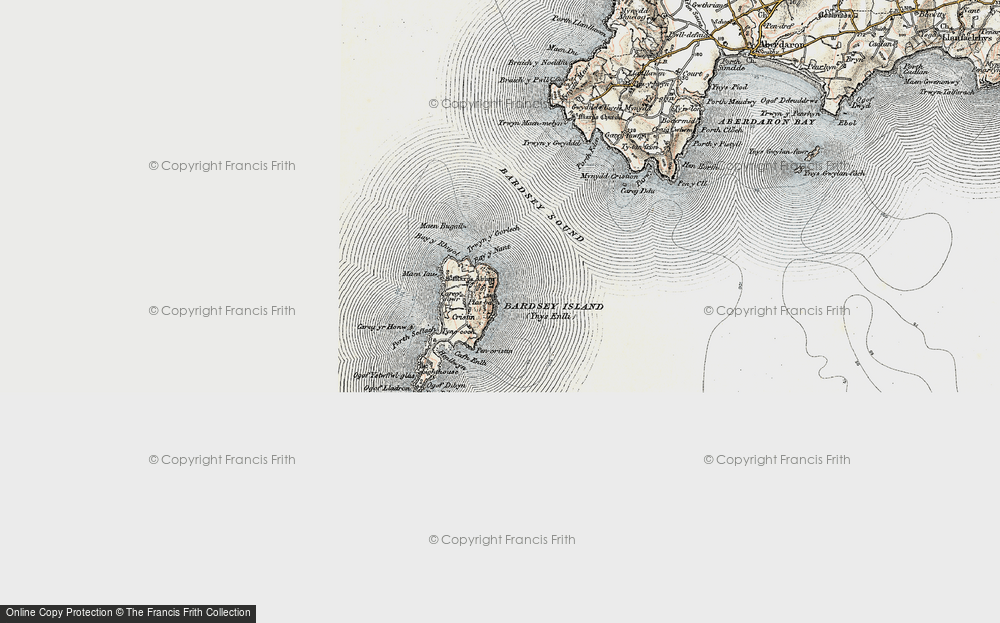 Old Map of Historic Map covering Bardsey Sound in 1903