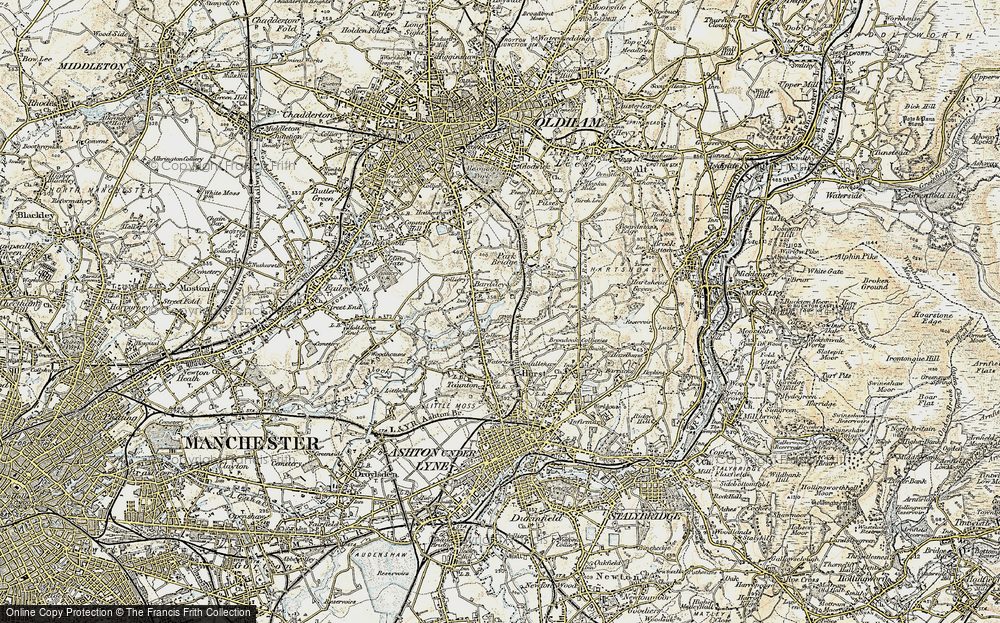 Old Map of Bardsley, 1903 in 1903
