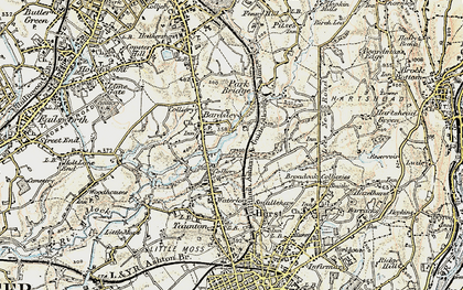 Old map of Bardsley in 1903