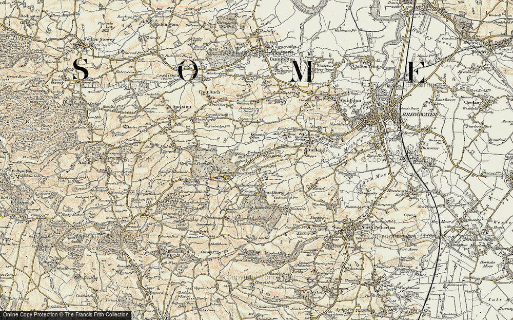 Old Map of Bare Ash, 1898-1900 in 1898-1900